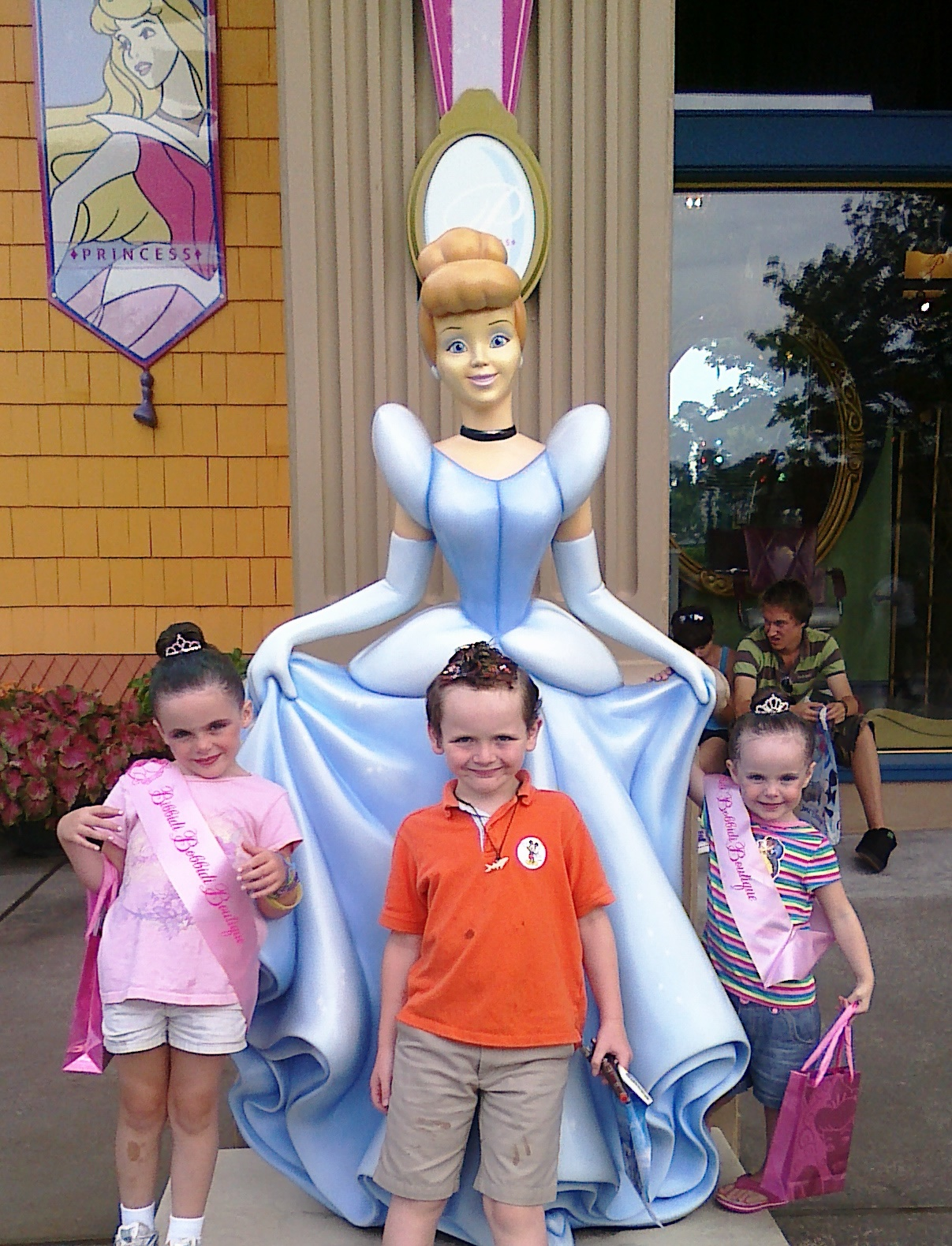 Two Happy Princesses and One Cool Dude