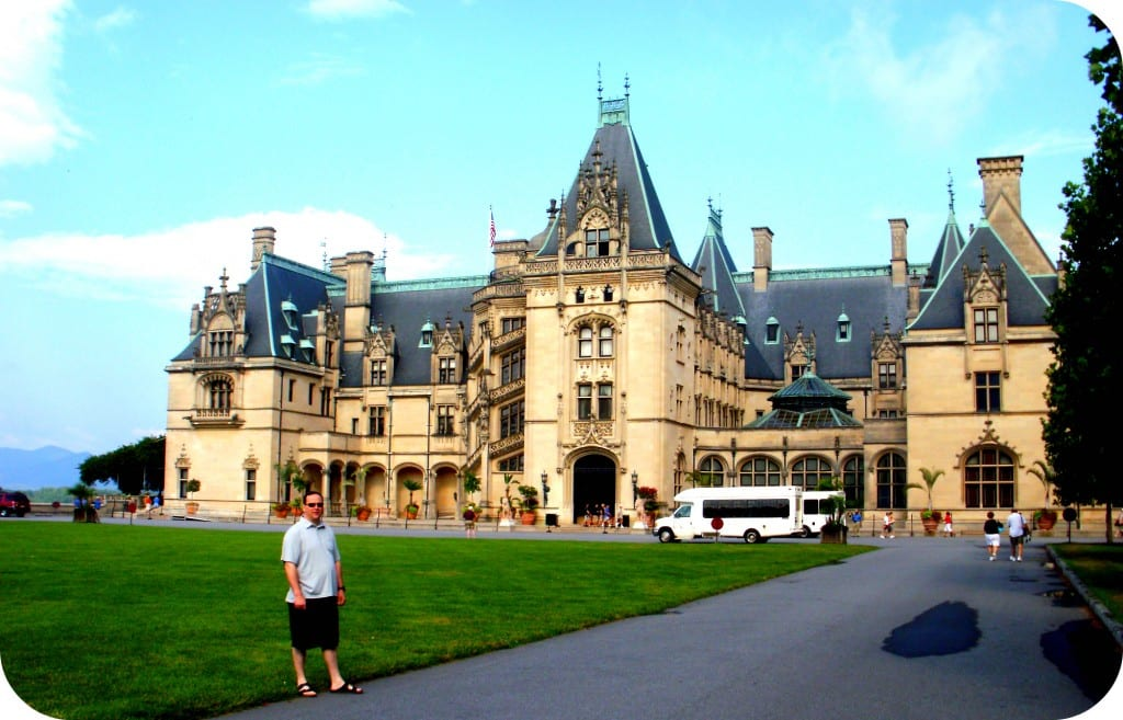 My husband, Jason, taking in the grandeur of the Biltmore Estate.