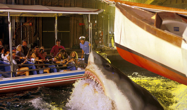 The murderous Jaws trolls the waters of Universal Studios Florida Orlando.