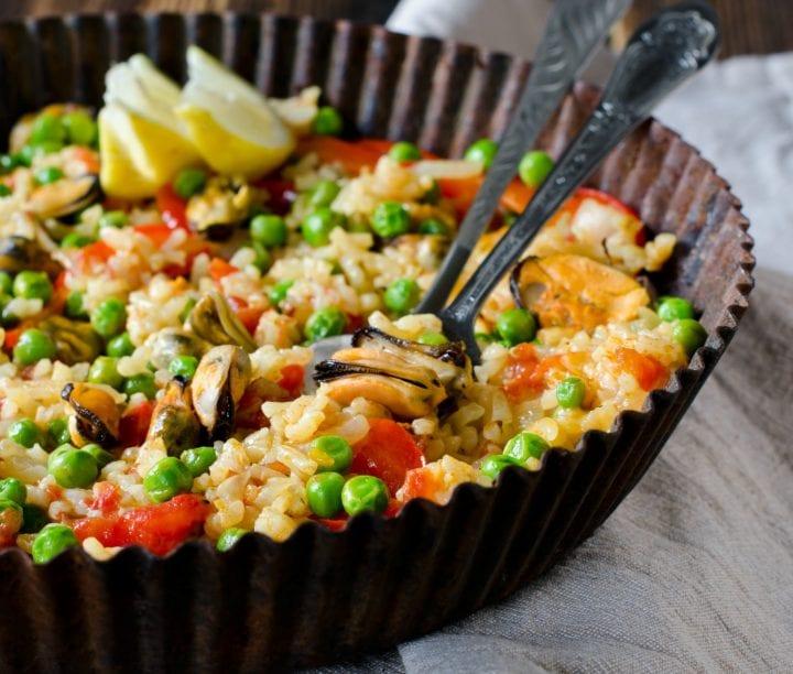 Lemon Seafood Paella Recipe