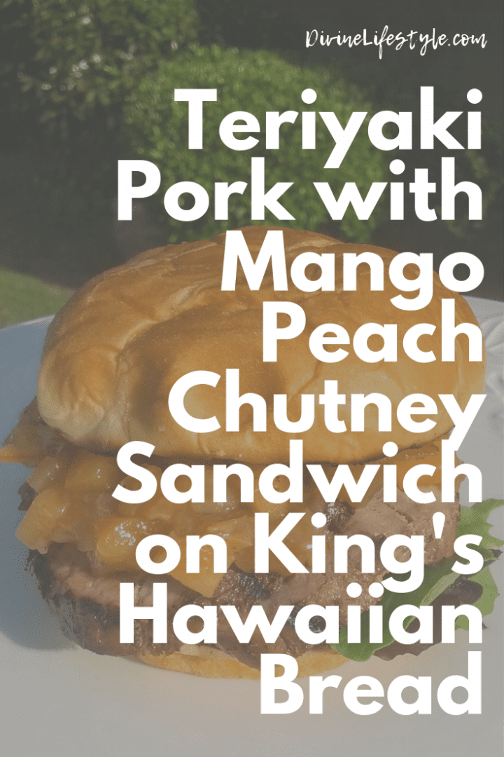 Teriyaki Pork with Mango Peach Chutney Sandwich on King's Hawaiian Bread