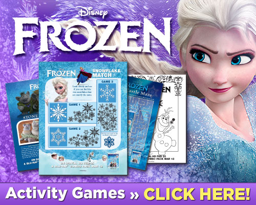 Disney FROZEN Printables Coloring Pages Activity Sheets Recipes Game