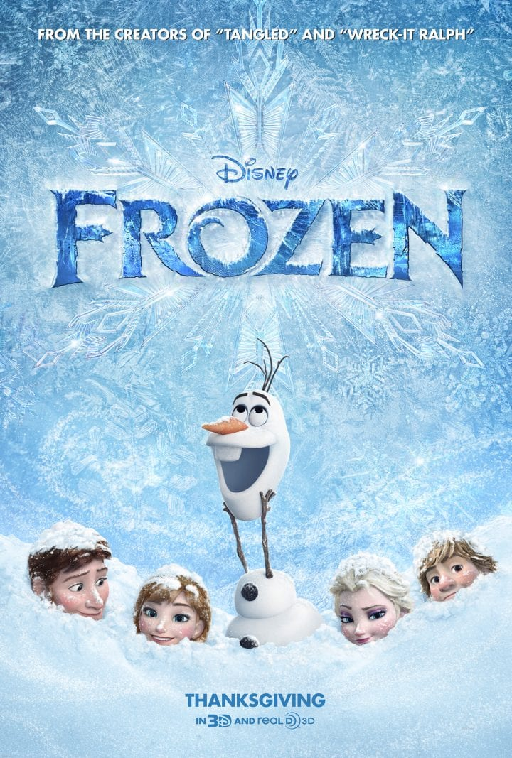 FROZEN New Disney Hit Movie Disney FROZEN Movie DVD Cover