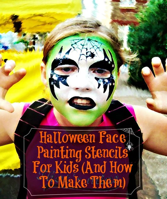 DIY Halloween Face Painting Stencils For Kids with over 20 Patterns