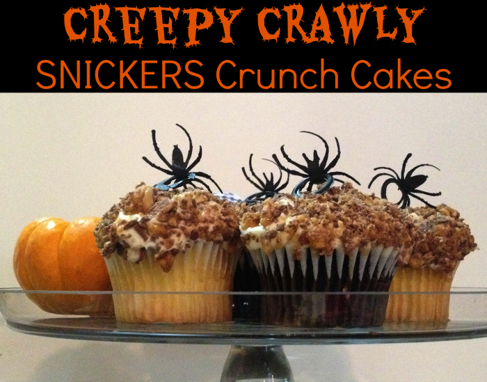 Halloween Inspiration: Creepy Crawly SNICKERS Crunch Cakes