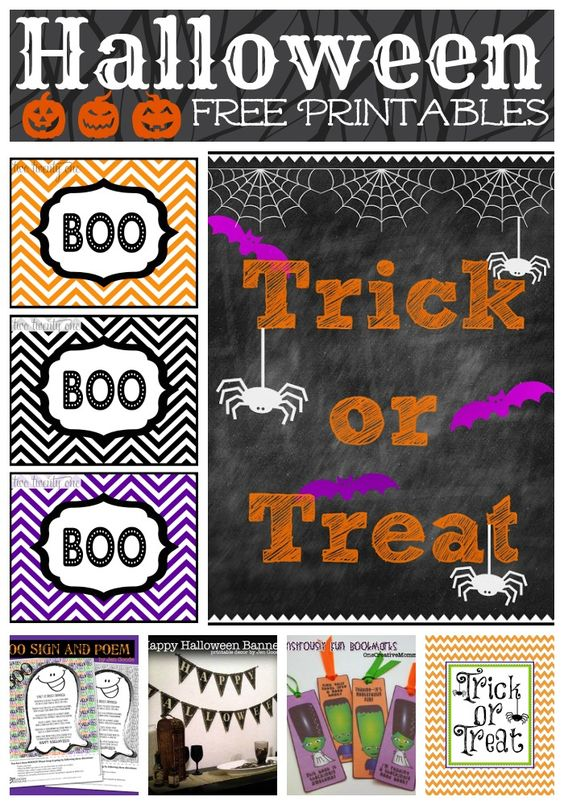 FREE Halloween Printables | Cupcake Toppers, Banners, Bookmarks, Invitations, Signs & More