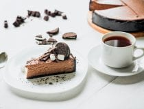 No Bake Chocolate Cheesecake with OREO Crust