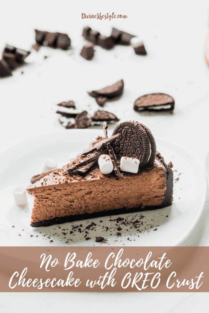 No Bake Chocolate Cheesecake with OREO Crust Recipe