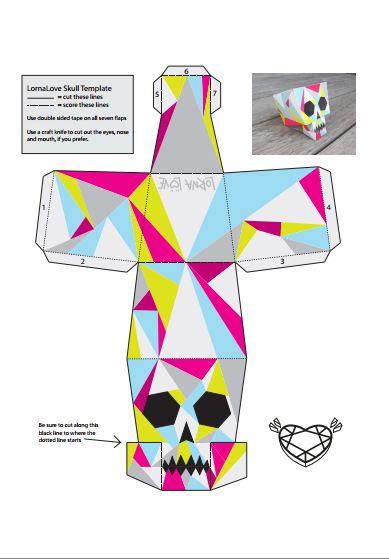Printable Customizable Skulls for Halloween