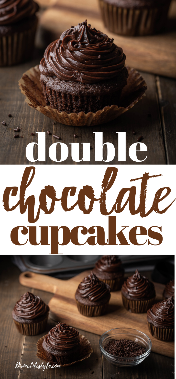 Double Chocolate Cupcakes with Buttercream Frosting Recipe