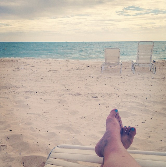Visiting Grand Bahama Island: The Softer Side of the Bahamas Part 2 - feet at beach