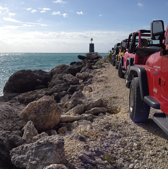 Visiting Grand Bahama Island: The Softer Side of the Bahamas Part 2 - Jeeps in line