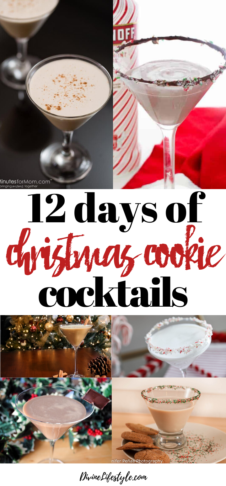 12 Days of Christmas Cookie Cocktails