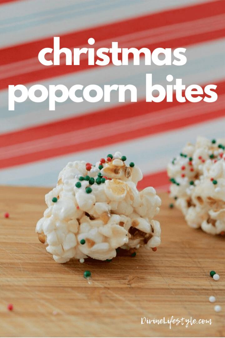 Christmas Popcorn Bites