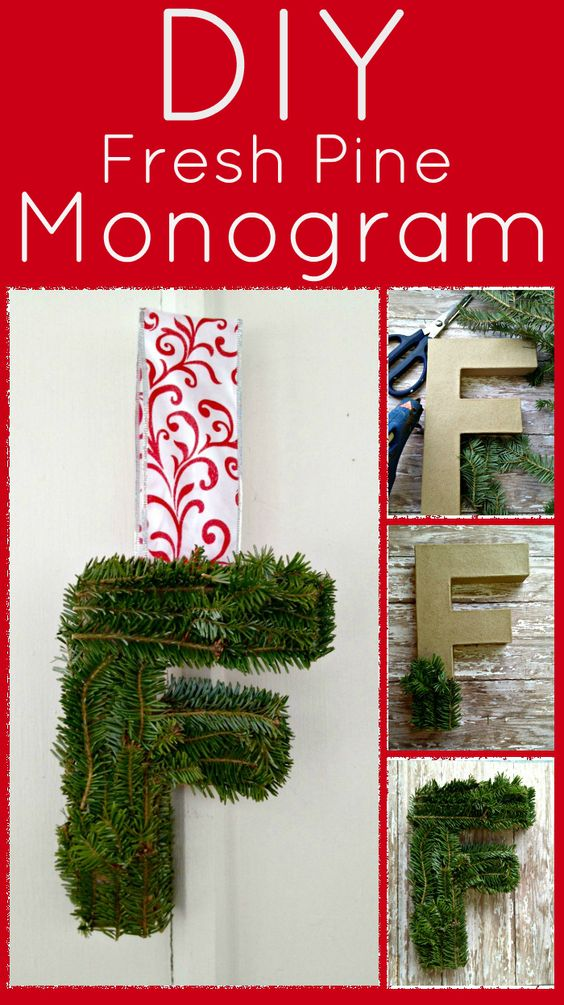 DIY Fresh Pine Monogram Letter
