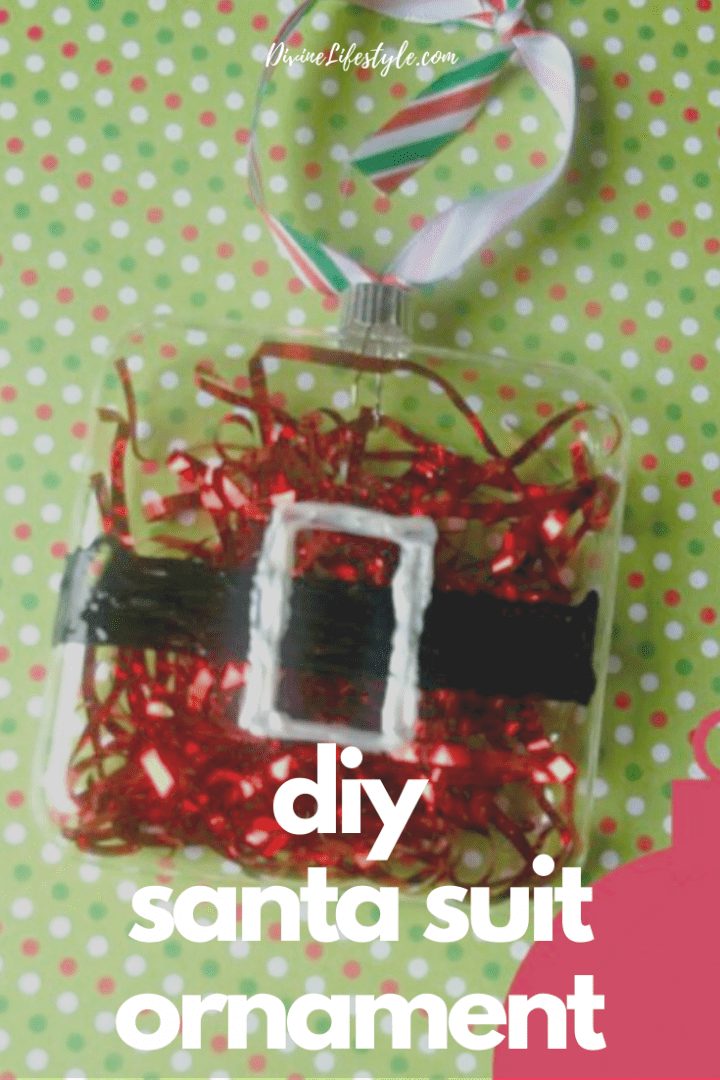 DIY Santa Suit Ornament