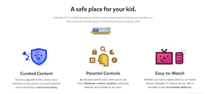 Safe Streaming Platform Kidoodle.TV has Educational Shows for Tweens Child Safe streaming platform