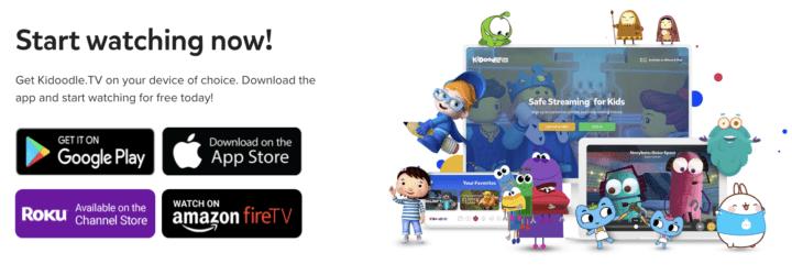 Kidoodle.TV Sign up in app store Streaming platform safe for kids