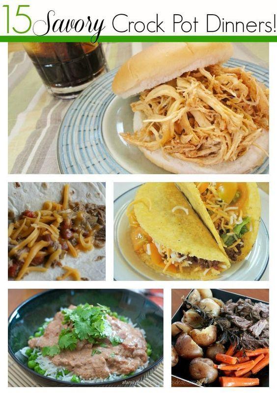 15 Savory Crock Pot Dinner Recipes