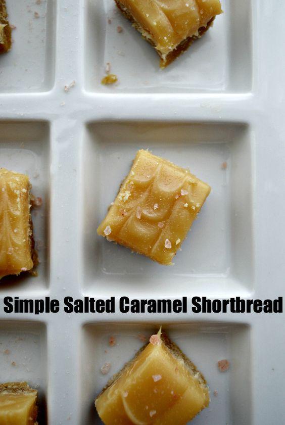 Simple Salted Caramel Shortbread Recipe