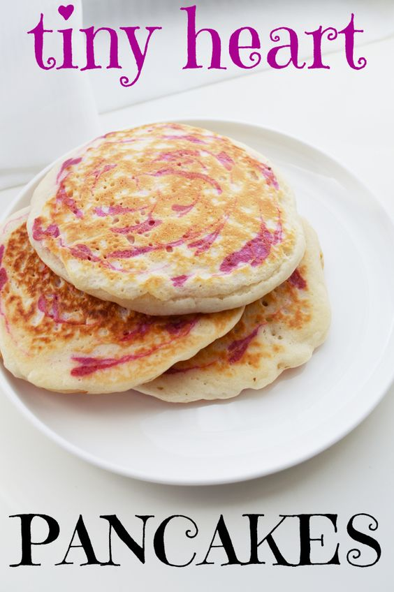 Tiny Heart Pancakes for Valentine's Day