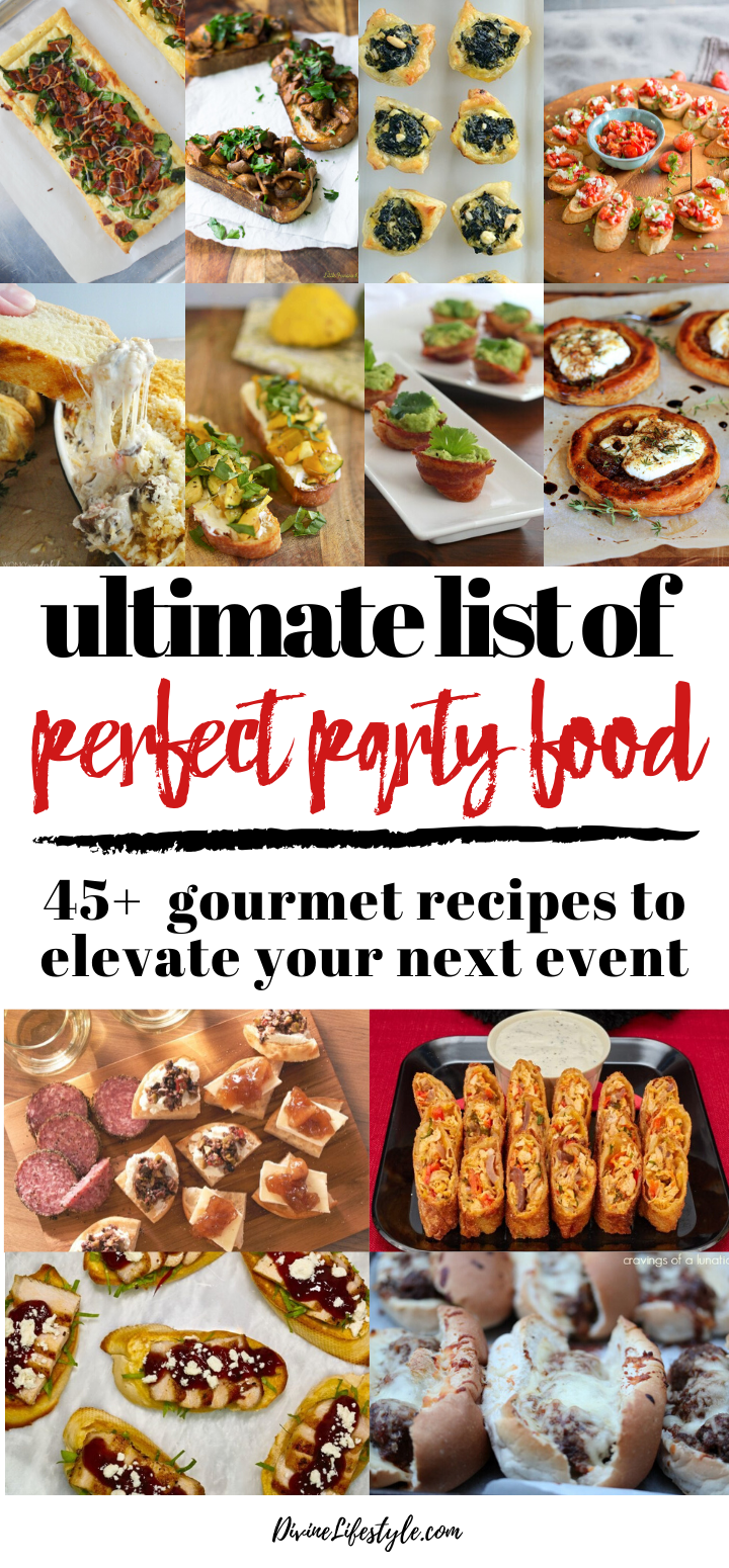 Game Day for the Gourmet - Ultimate Gourmand Appetizer List Perfect Party Food Recipes