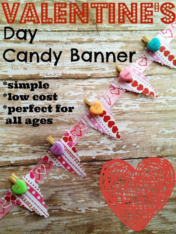 Valentine's Day Candy Banner