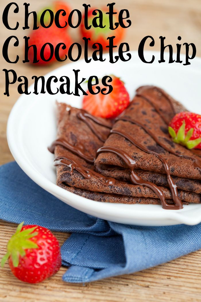 Easy Double Chocolate Chip Pancakes