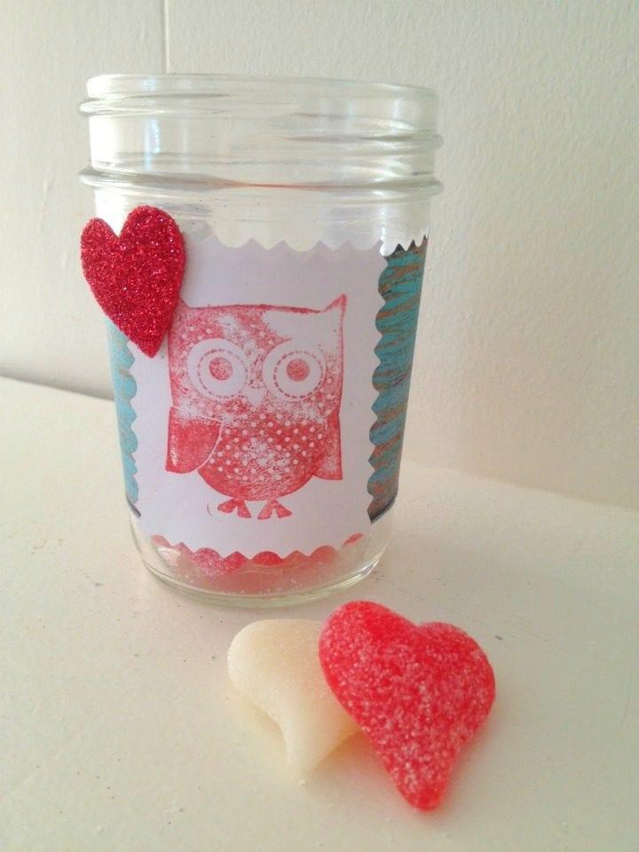 DIY Valentine's Day Owl Treat Jar