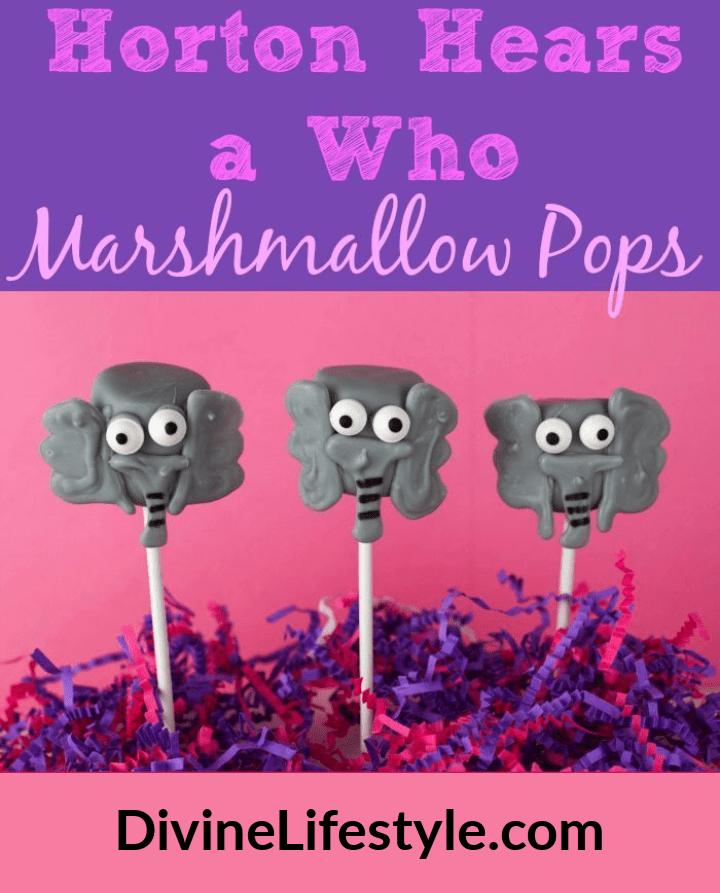 Horton Hears a Who Marshmallow Pops