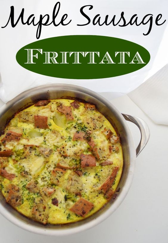 Maple Sausage Frittata Recipe