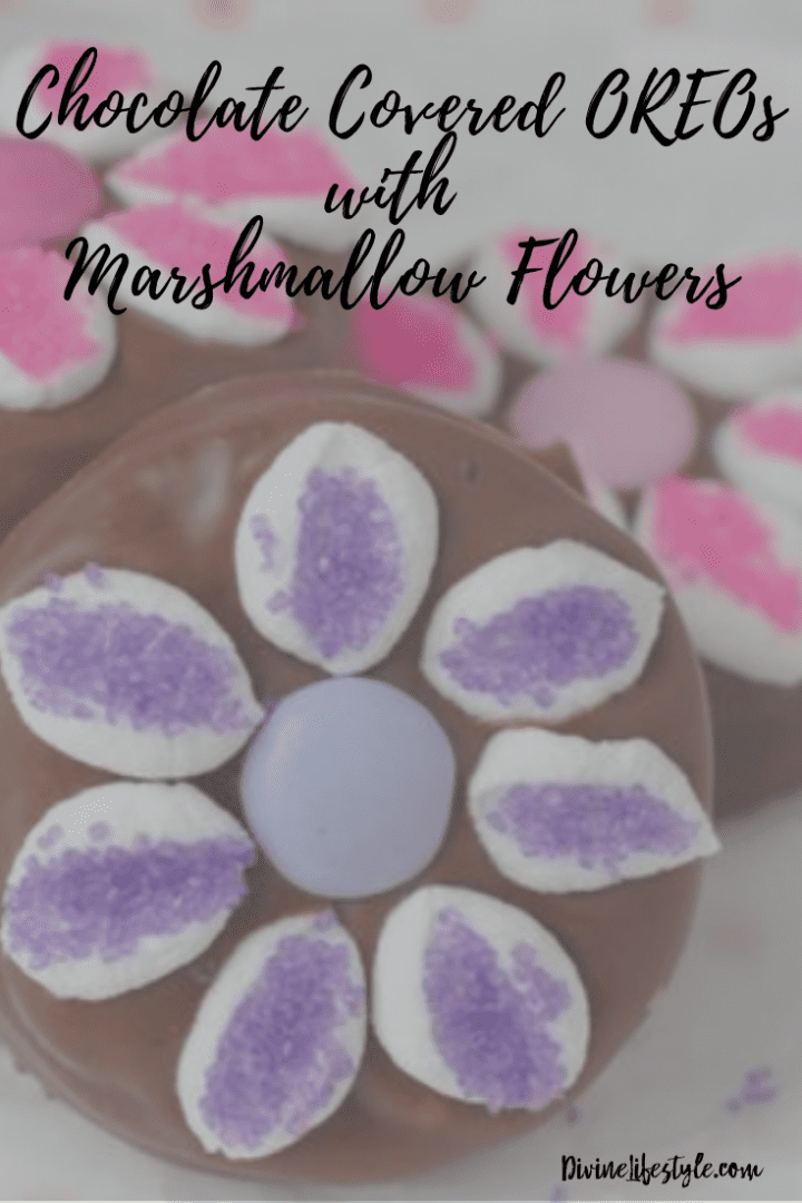 Chocolate Covered OREOs with Marshmallow Flowers Recipe