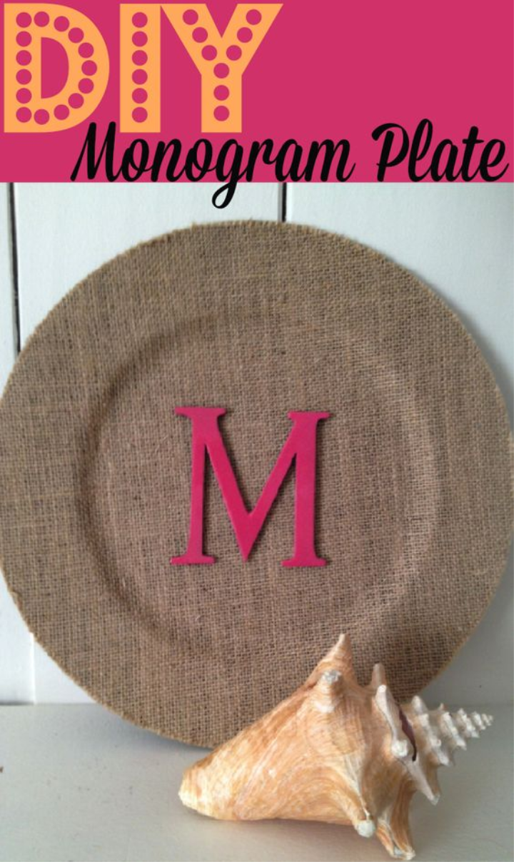 DIY Monogram Plate ~ Simple Spring Mother's Day Craft