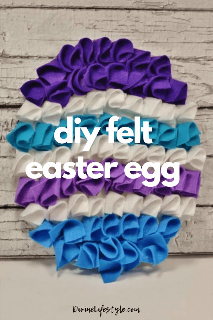 DIY Felt Easter Egg Kids Craft