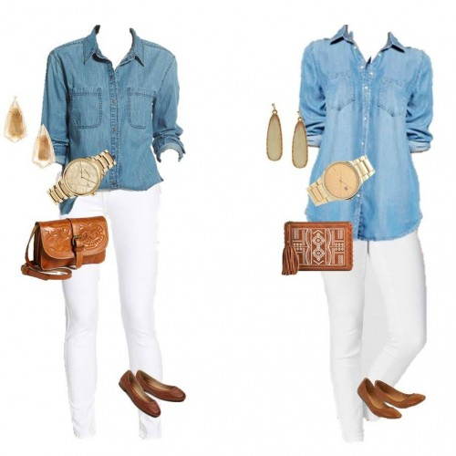 Designer Look for Less: Chambray Denim & White