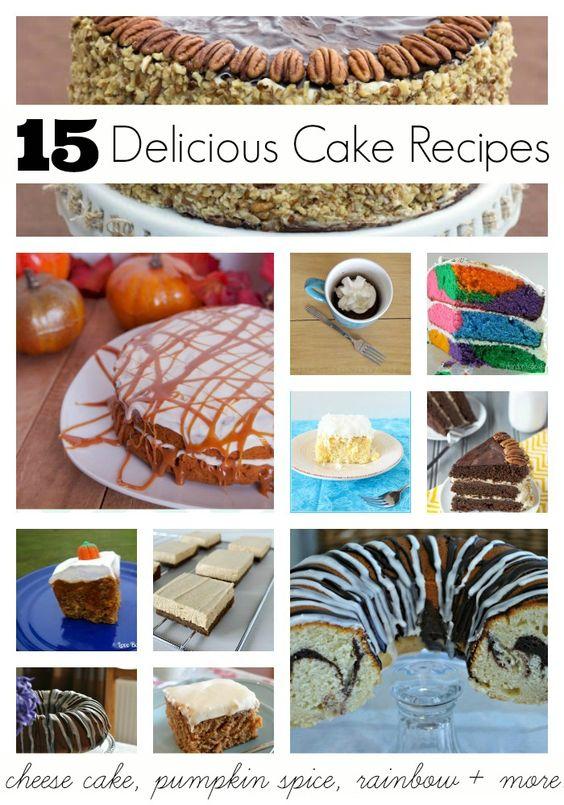 15 Delicious Cake Recipes