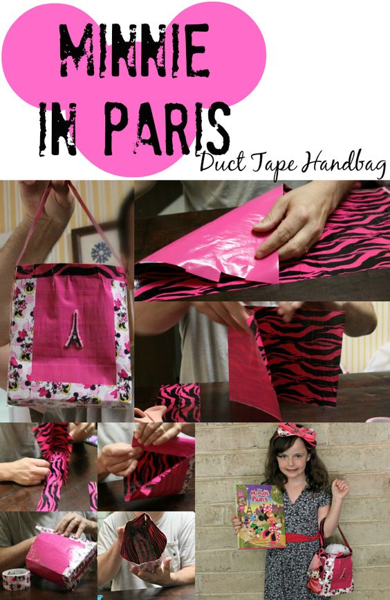 Minnie in Paris Duct Tape Handbag Tutorial