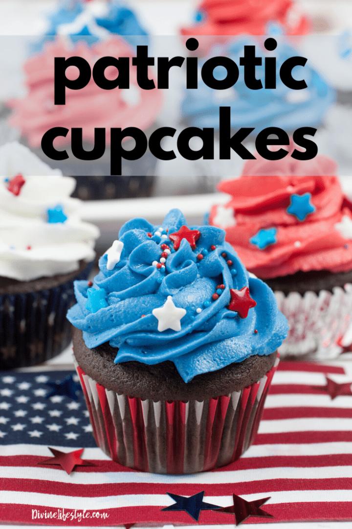 Patriotic Cupcakes July 4th cupcakes