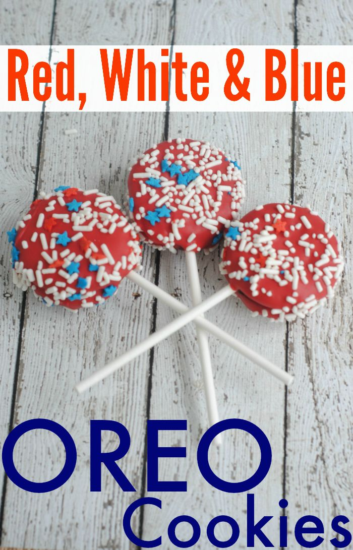 Patriotic OREO Cookie Pops
