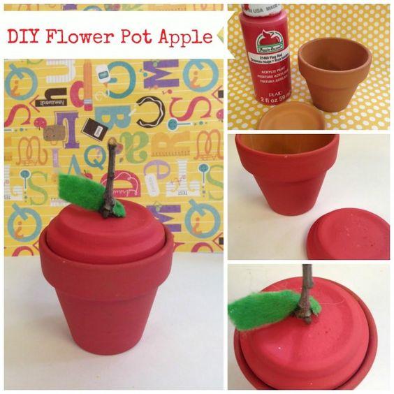 DIY Flower Pot Apple