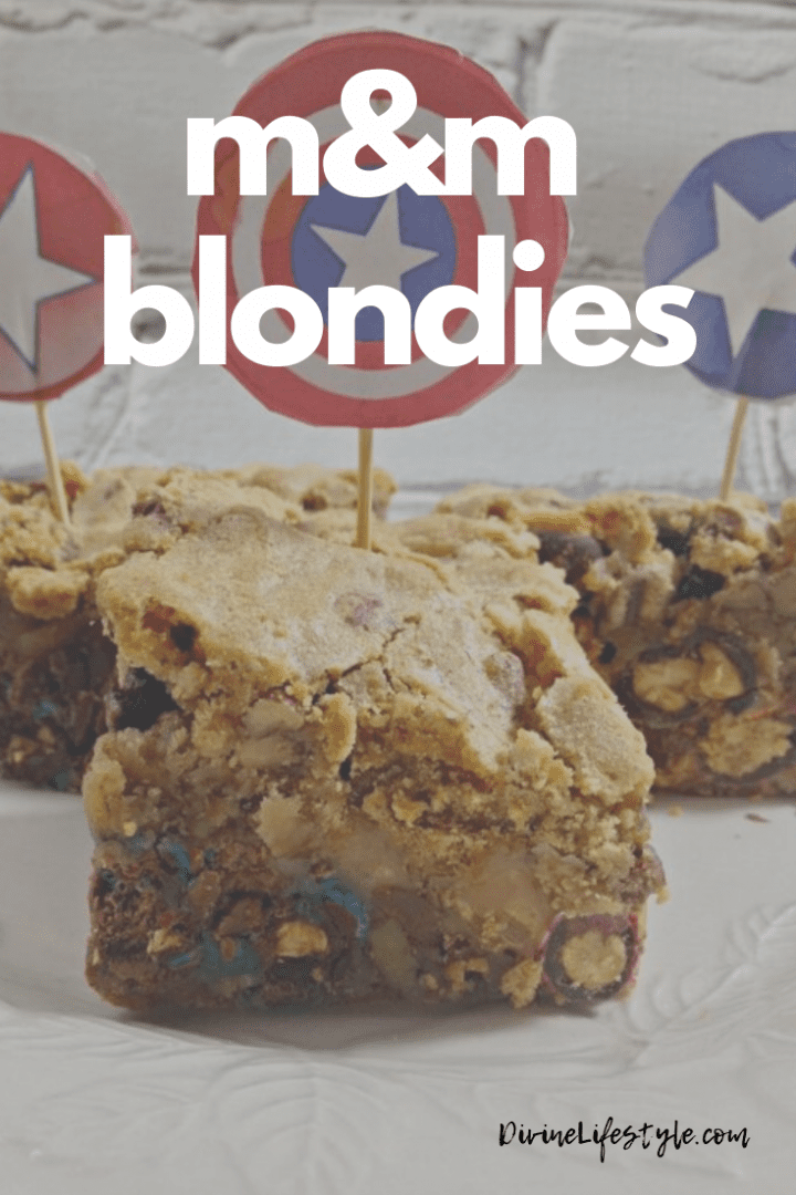M&M Blondie Recipe