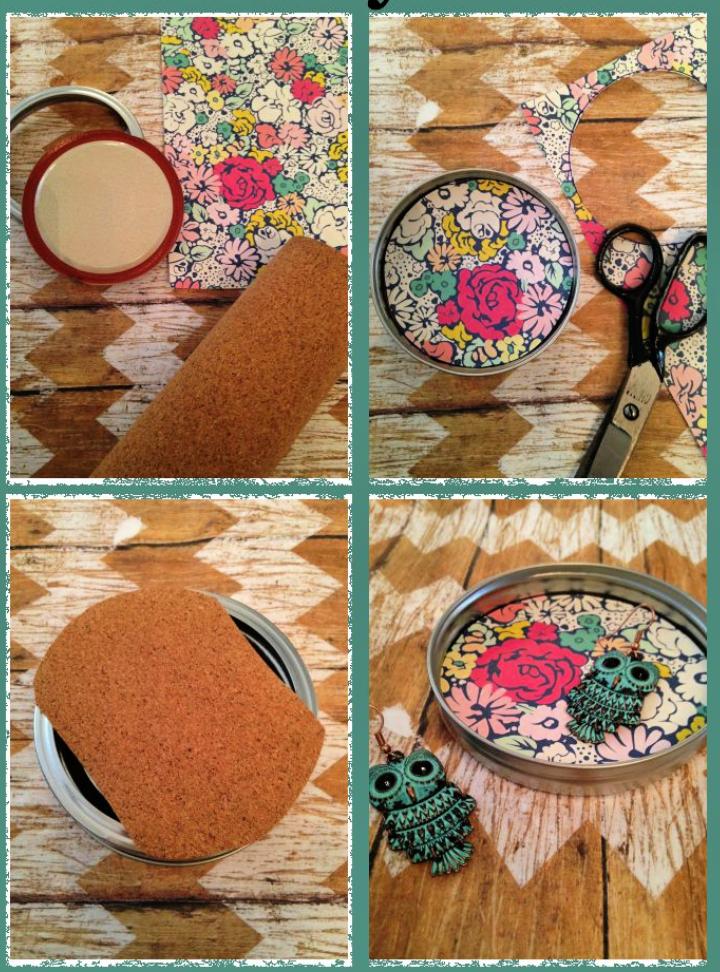 Mason Jar Lid Jewelry Dish Craft