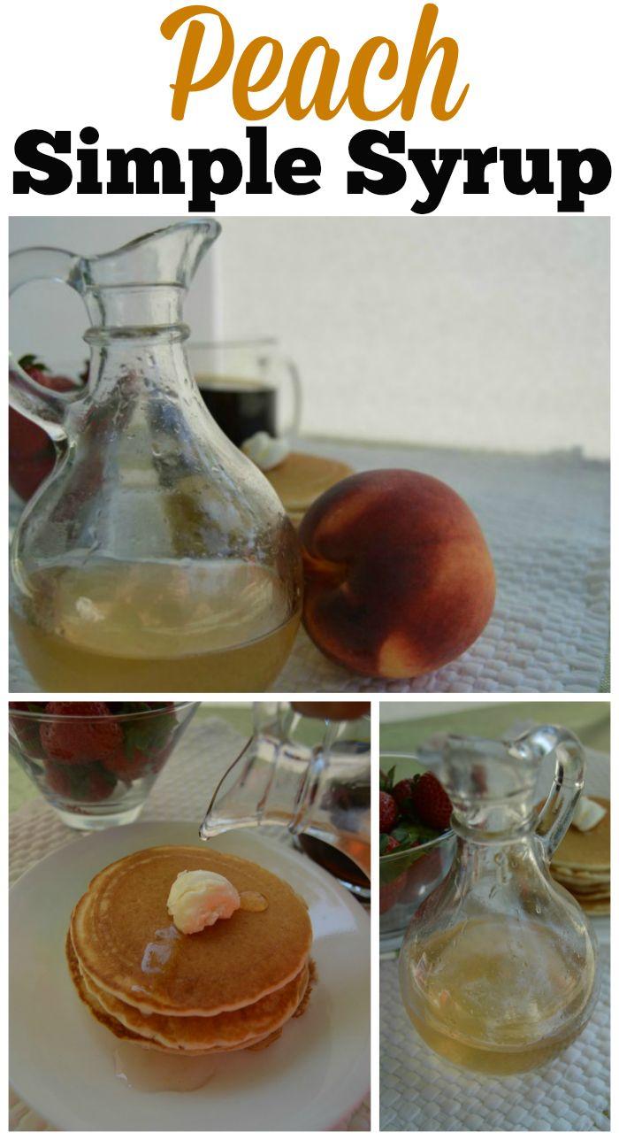 Peach Simple Syrup Recipe