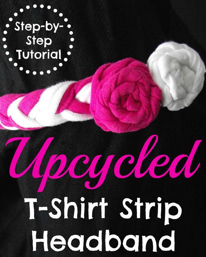 Upcycled T-Shirt Strip Headband Tutorial