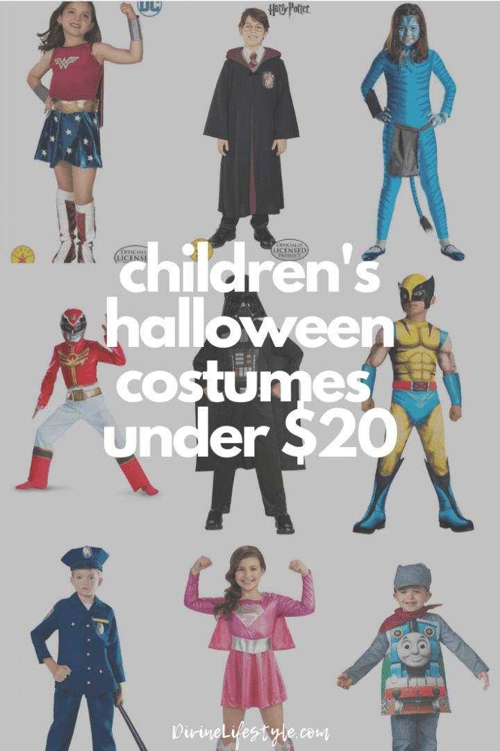 Children's Halloween Costumes Under $20