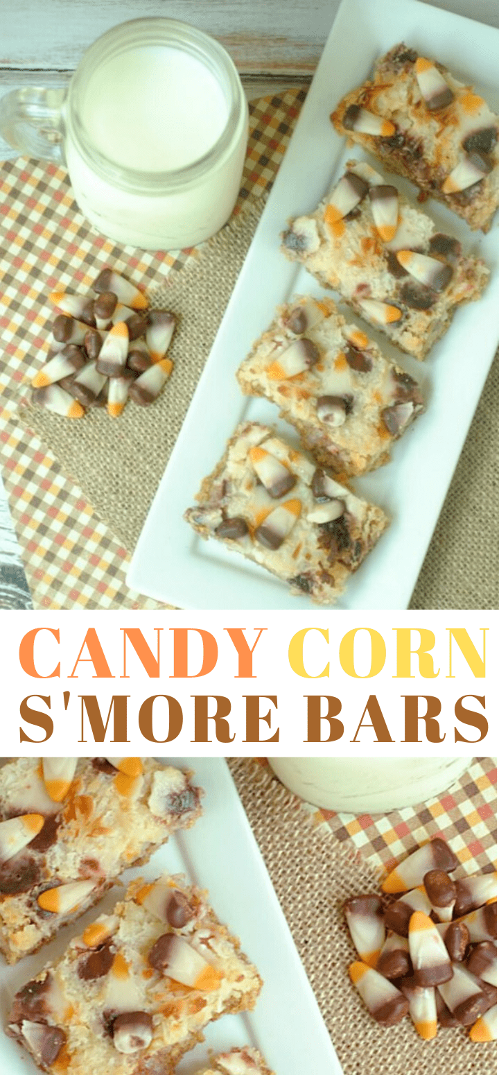 Magic Candy Corn S'more Bars