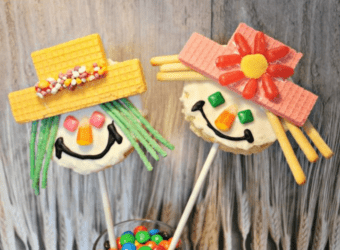RICE KRISPIES Treats Scarecrow Pops