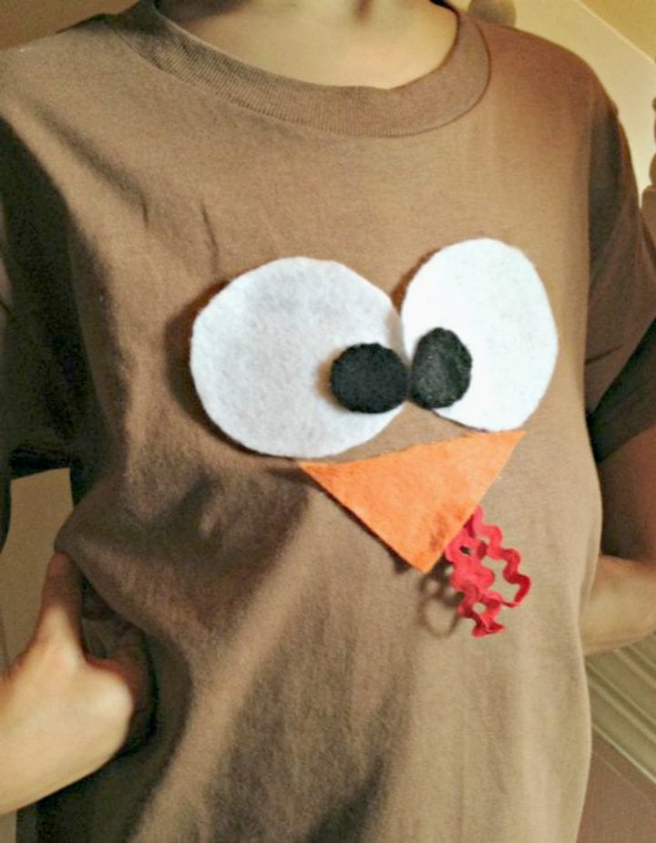 Easy DIY Turkey Shirt