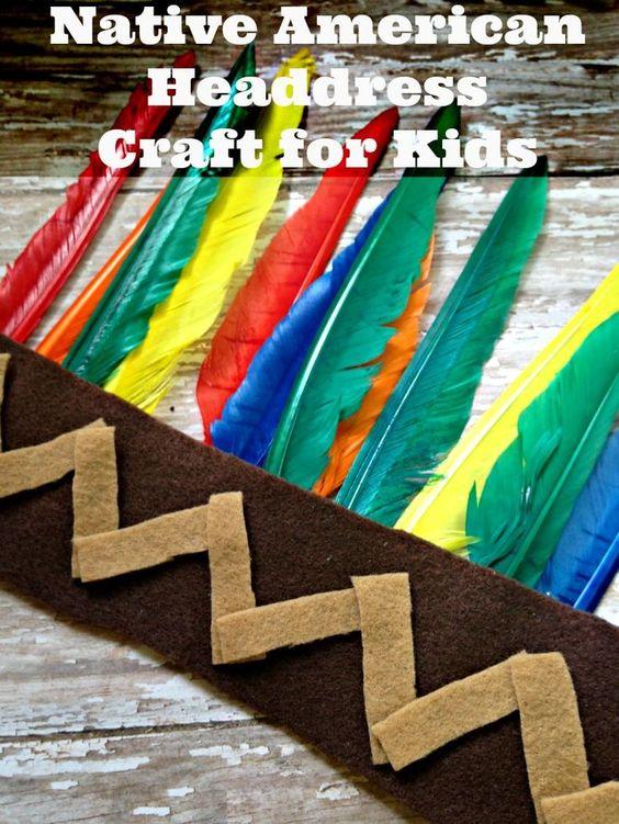 Native American Headdress Craft for Kids