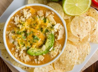 Skillet Chicken Enchilada Soup
